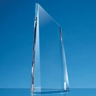 Picture of 18CM OPTICAL CRYSTAL FACETTED PEAK AWARD