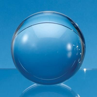 Picture of 8CM OPTICAL CRYSTAL SPHERE WITH a FLAT BASE