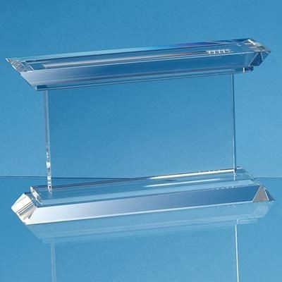 Picture of 21CM OPTICAL CRYSTAL JANUS MOUNTED RECTANGULAR AWARD