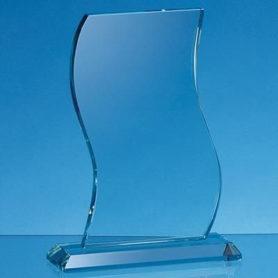 Picture of 18X11X15MM JADE GLASS WAVE AWARD