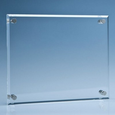 Picture of CLEAR TRANSPARENT GLASS WALL DISPLAY PLAQUE
