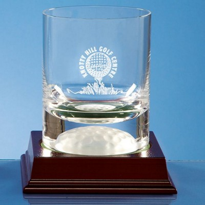 Picture of 10OZ HANDMADE GOLF BALL BASE WHISKY TUMBLER