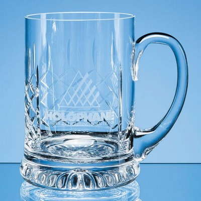 Picture of HANDMADE PANEL STAR BASE GLASS BEER TANKARD
