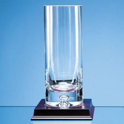 Picture of HANDMADE BUBBLE BASE CYLINDER GLASS VASE