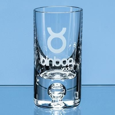 Picture of 30ML TALL BUBBLE BASE SHOT GLASS