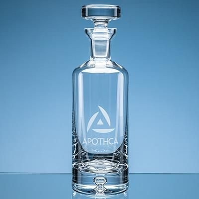 Picture of HANDMADE BUBBLE BASE ARRAN ROUND DECANTER