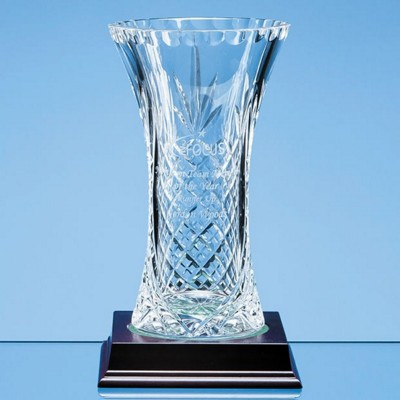 Picture of 19CM LEAD CRYSTAL PANELLED FLARED VASE