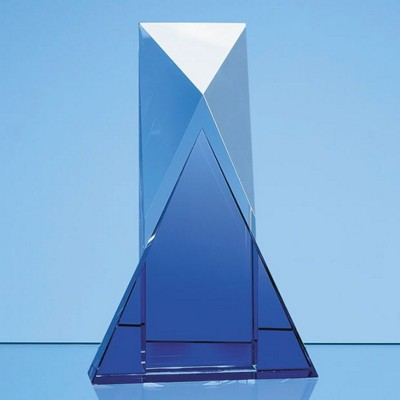 Picture of 23CM NIK MELLER DESIGN OPTICAL CRYSTAL & COBALT BLUE MIX AWARD