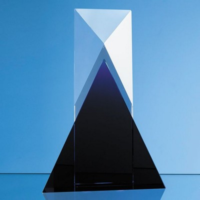 Picture of 28CM NIK MELLER DESIGN CLEAR TRANSPARENT OPTICAL CRYSTAL & COBALT BLUE MIXX AWARD