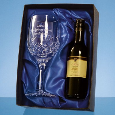 Picture of BLENHEIM SINGLE GOBLET & WINE GIFT SET