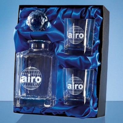 Picture of 3 PC WHISKY SET in a Satin Lined Presentation Box