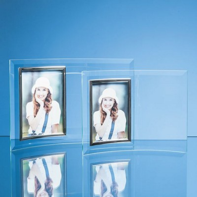 Picture of BEVELLED GLASS CRESCENT PHOTO FRAME