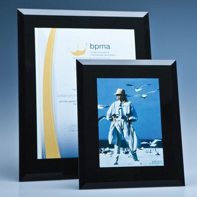 Picture of BLACK SURROUND GLASS FRAME FOR 5 INCH x 7 INCH PHOTO, H OR V