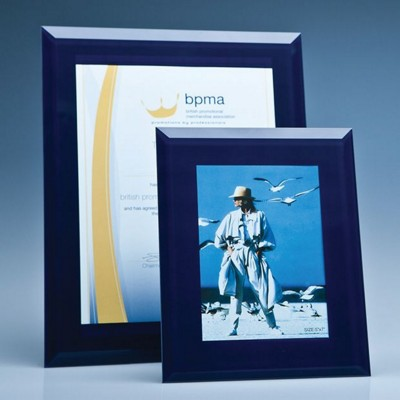 Picture of NAVY SURROUND GLASS FRAME FOR A4 PHOTO OR CERTIFICATE, H OR V