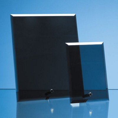 Picture of SMOKED BLACK GLASS RECTANGULAR AWARD with Silver Chrome Pin