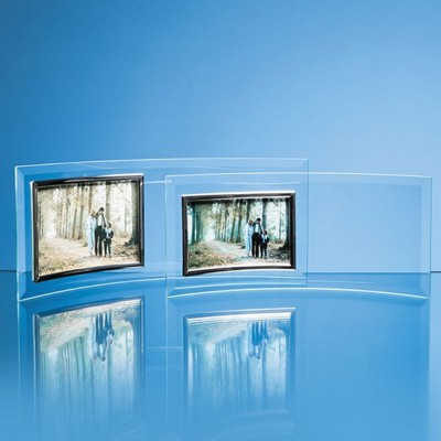 Picture of BEVELLED GLASS CRESCENT FRAME FOR 6 INCH x 4 INCH LANDSCAPE PHOTO