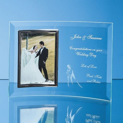 Picture of BEVELLED GLASS CRESCENT FRAME FOR 5 INCH x 7 INCH PORTRAIT PHOTO