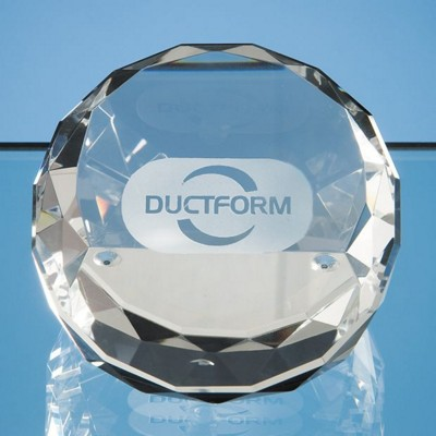 Picture of OPTICAL CRYSTAL SLICED WEDGE PAPERWEIGHT