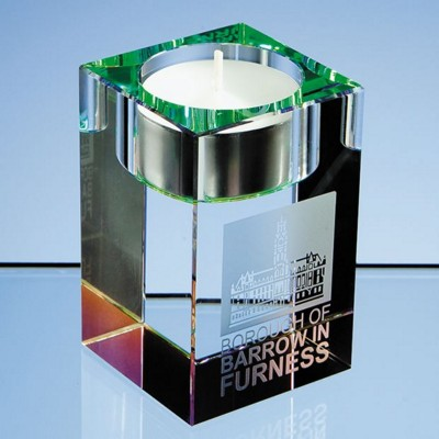 Picture of 8CM OPTICAL CRYSTAL GLASS TEA LIGHT HOLDER