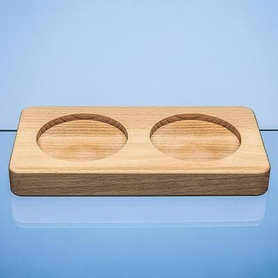 Picture of DOUBLE 80MM RECESS BEECH WOOD BASE
