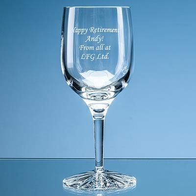 Picture of 220ML GROSVENOR LEAD CRYSTAL WINE GLASS with Star Cut Base