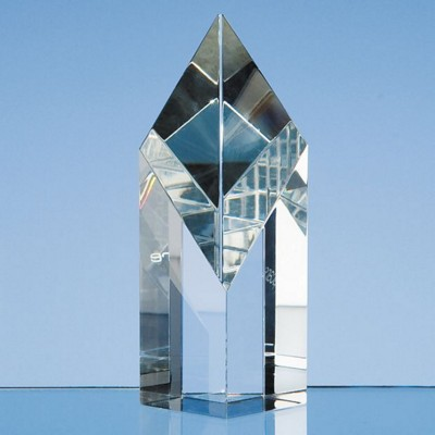 Picture of OPTICAL CRYSTAL GLASS SLOPING DIAMOND AWARD