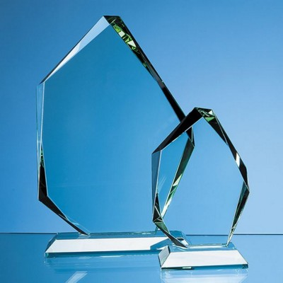 Picture of 15CM JADE GLASS FACETED ICE PEAK AWARD
