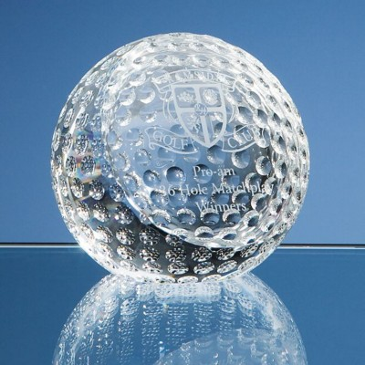 Picture of 8CM OPTICAL CRYSTAL GOLF BALL PAPERWEIGHT