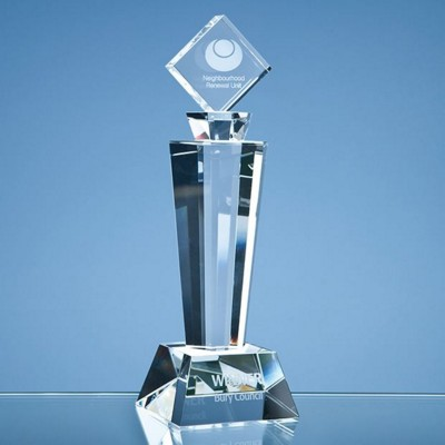 Picture of 22CM OPTICAL CRYSTAL MOUNTED SQUARE AWARD