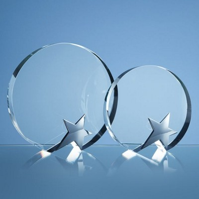 Picture of 18CM OPTIC CIRCLE AWARD with Silver Star