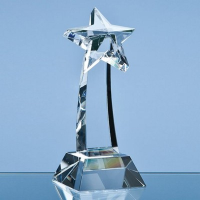 Picture of 25CM OPTICAL CRYSTAL MOUNTED SHOOTING STAR AWARD