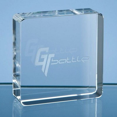 Picture of 6CM OPTICAL CRYSTAL SQUARE PAPERWEIGHT