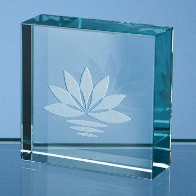 Picture of 5CM JADE GLASS SQUARE PAPERWEIGHT