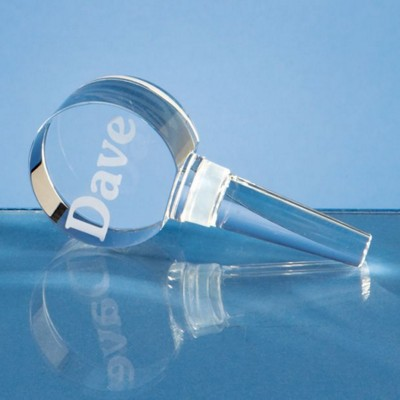 Picture of 10CM OPTICAL CRYSTAL BOTTLE STOPPER