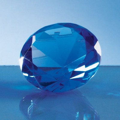 Picture of 6CM OPTICAL CRYSTAL BLUE DIAMOND PAPERWEIGHT