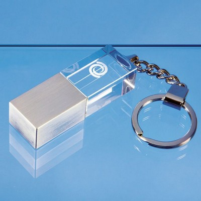 Picture of 4GB OPTICAL CRYSTAL MEMORY STICK KEYRING