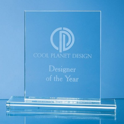 Picture of 12CM x 9CM x 12MM CLEAR TRANSPARENT GLASS RECTANGULAR AWARD