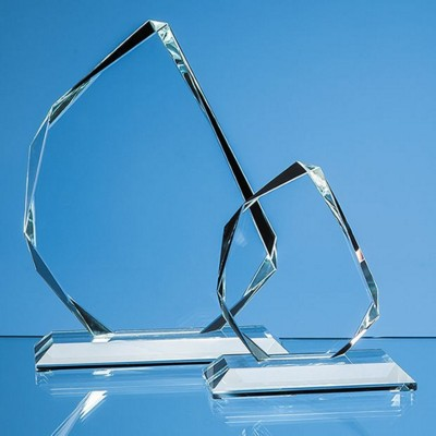 Picture of CLEAR TRANSPARENT GLASS FACETTED ICE PEAK AWARD