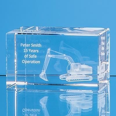Picture of 10CM x 6CM x 6CM OPTICAL CRYSTAL RECTANGULAR, H OR V
