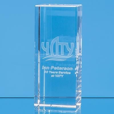 Picture of 3D ENGRAVED OPTICAL CRYSTAL RECTANGULAR AWARD