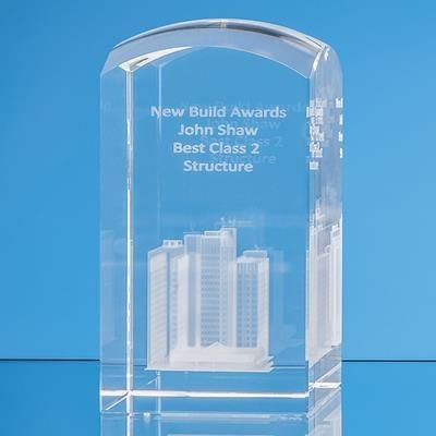 Picture of 3D ENGRAVED OPTICAL CRYSTAL DOME TOWER PAPERWEIGHT