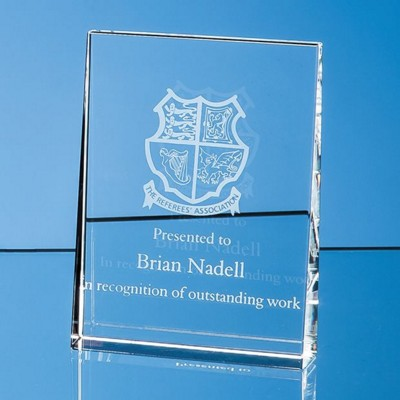 Picture of 12CM OPTICAL CRYSTAL VERTICAL WEDGE AWARD