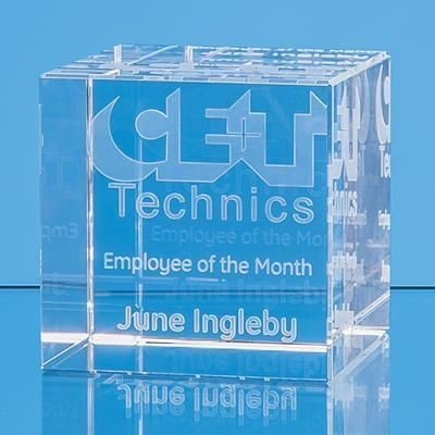 Picture of 6CM x 6CM OPTICAL CRYSTAL CUBE