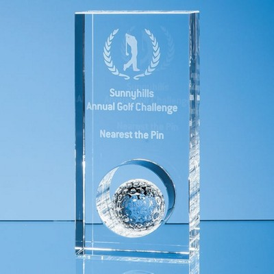 Picture of 17CM OPTICAL CRYSTAL GOLF BALL in Hole Award