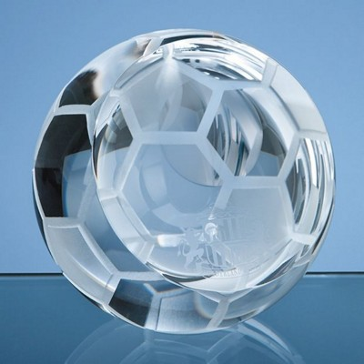Picture of 6CM OPTICAL CRYSTAL FOOTBALL PAPERWEIGHT