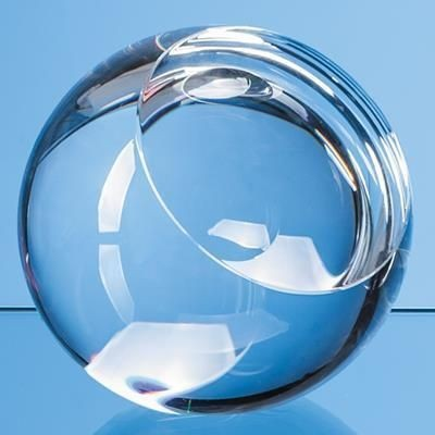 Picture of 6CM OPTICAL CRYSTAL SLICED BALL AWARD with Flat Front
