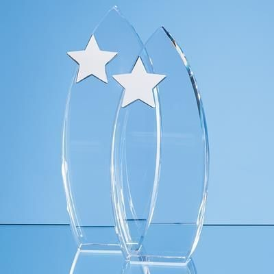 Picture of 23CM OPTICAL CRYSTAL ARCH AWARD with Silver Start