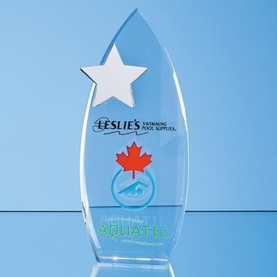 Picture of 28CM OPTICAL CRYSTAL ARCH AWARD with Silver Start