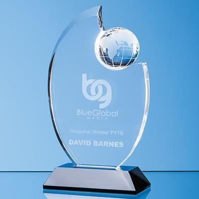 Picture of 23CM OPTICAL CRYSTAL GLOBE AWARD