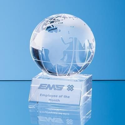 Picture of 8CM OPTICAL CRYSTAL GLOBE AWARD